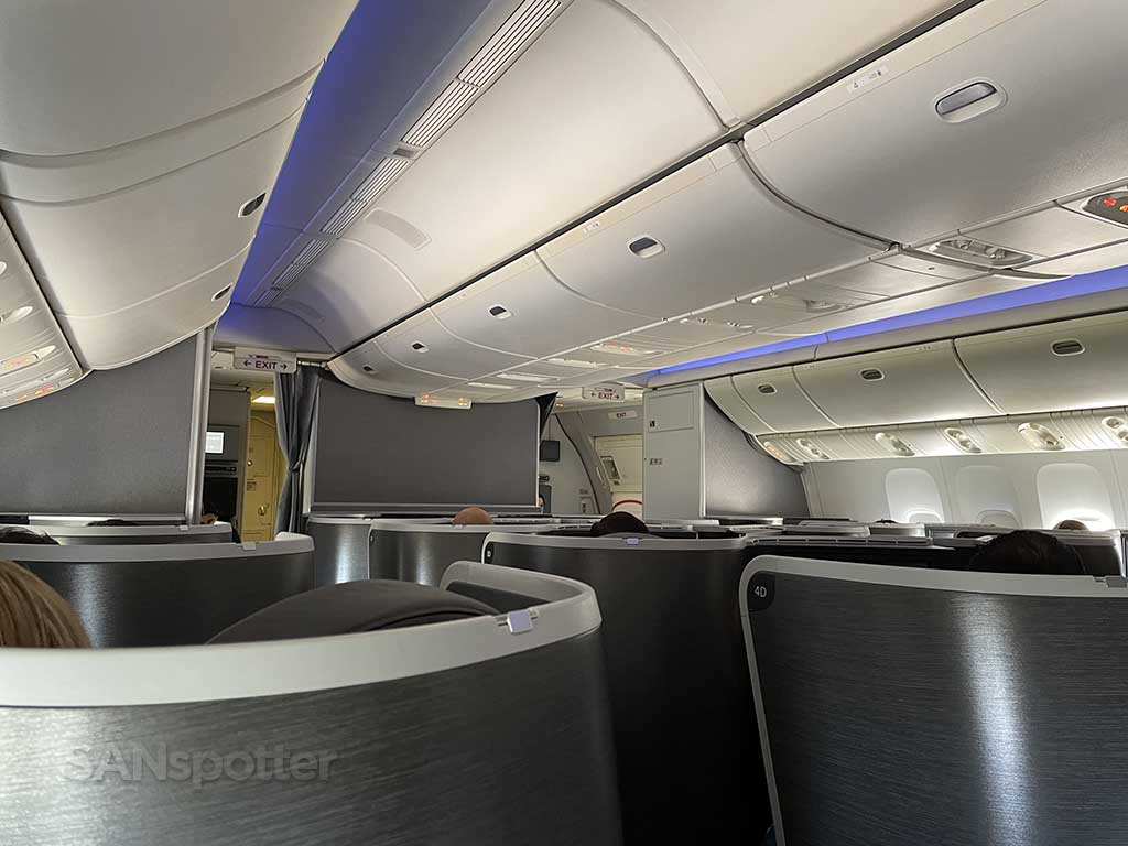 American Airlines 777-200 business class interior