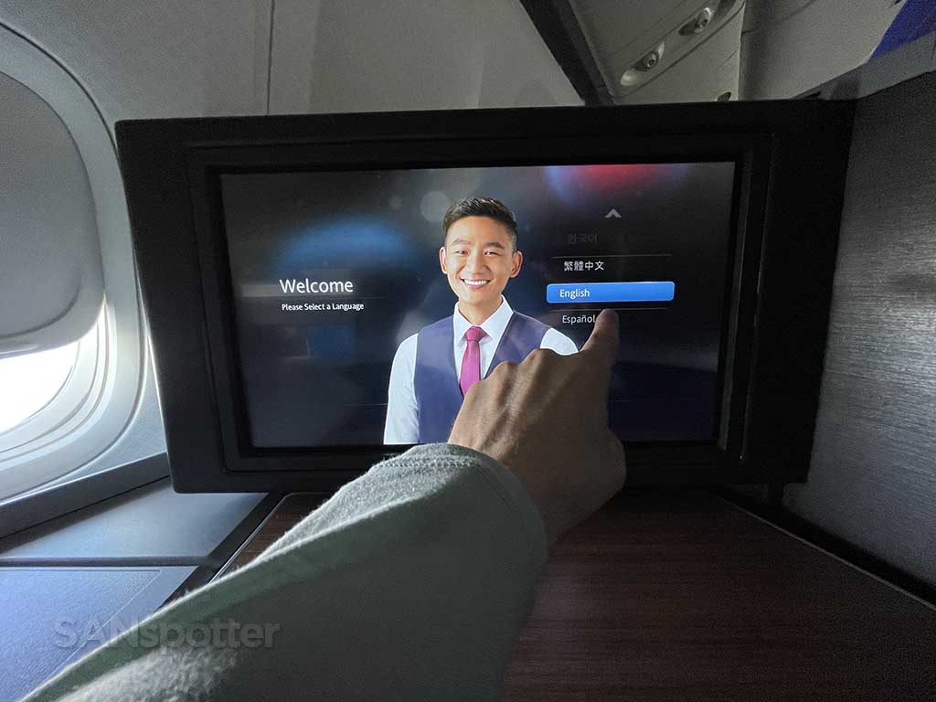 American Airlines 777-200 business class video screen