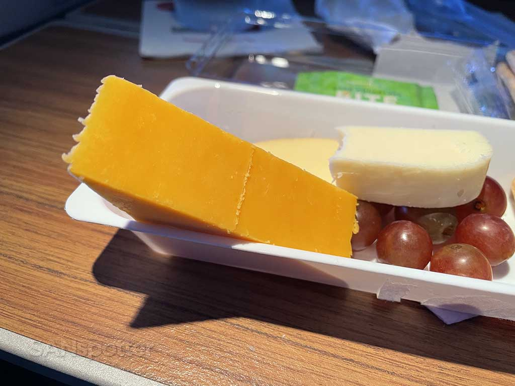 American Airlines fruit and cheese platter