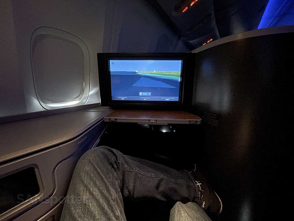 American Airlines 777-200 business class seat comfort