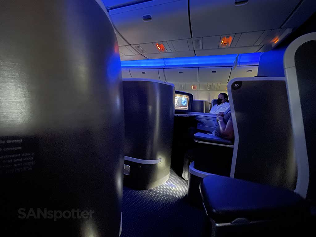 American Airlines 777-200 business class center seats