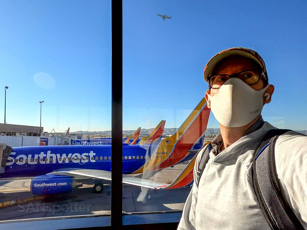 SANspotter selfie Phoenix airport