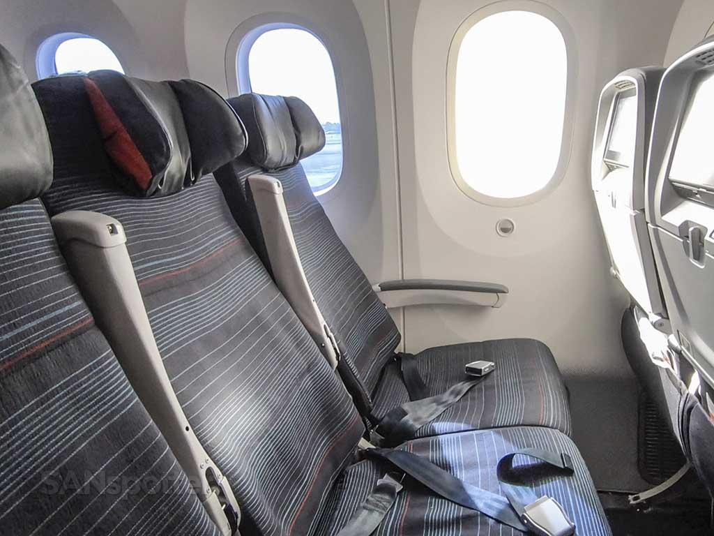 Air Canada international economy seat