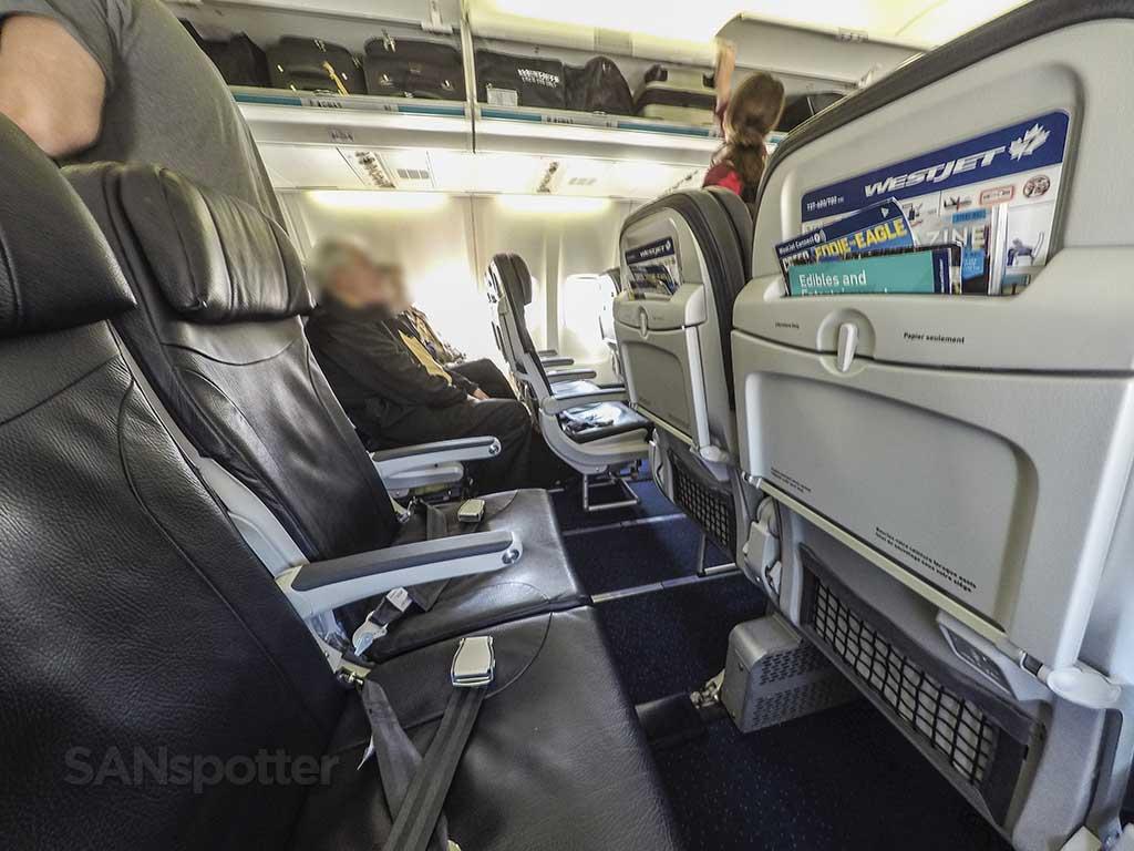 No video screens westjet seats