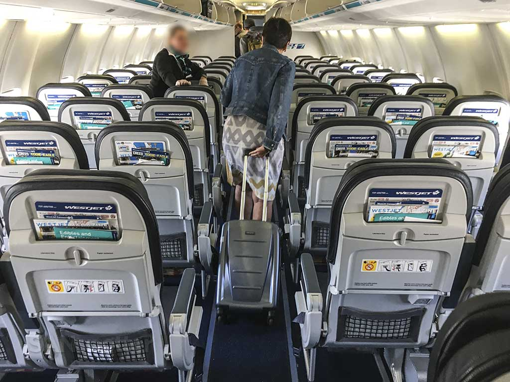 WestJet domesday economy seat backs