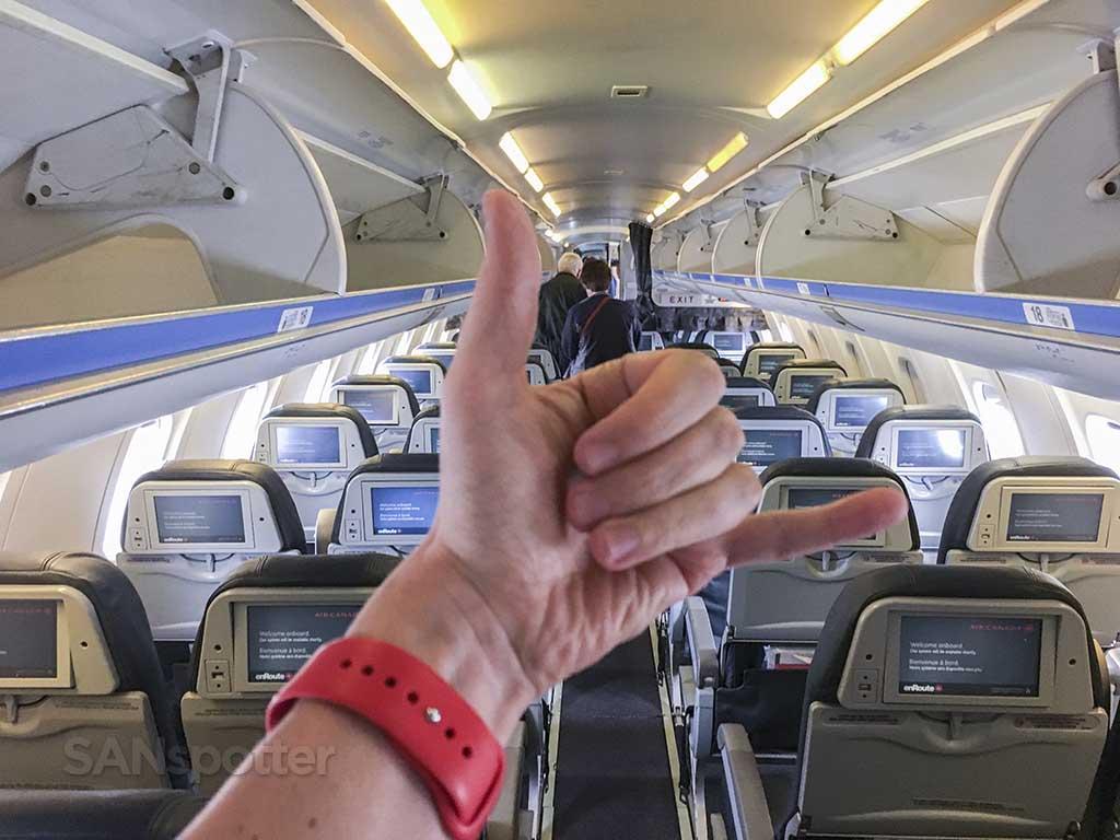 Air Canada domestic economy