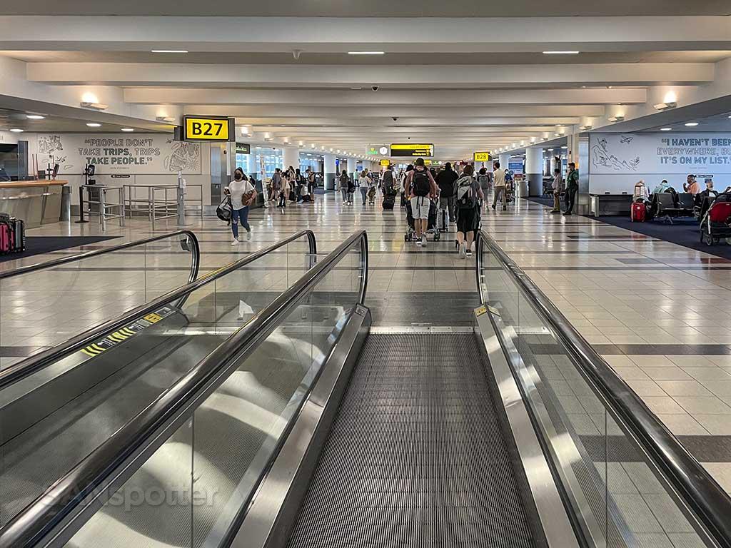 Moving walkway terminal 4 JFK