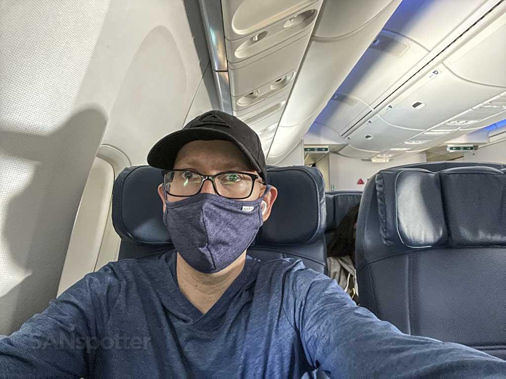 SANspotter selfie delta 767-400er economy