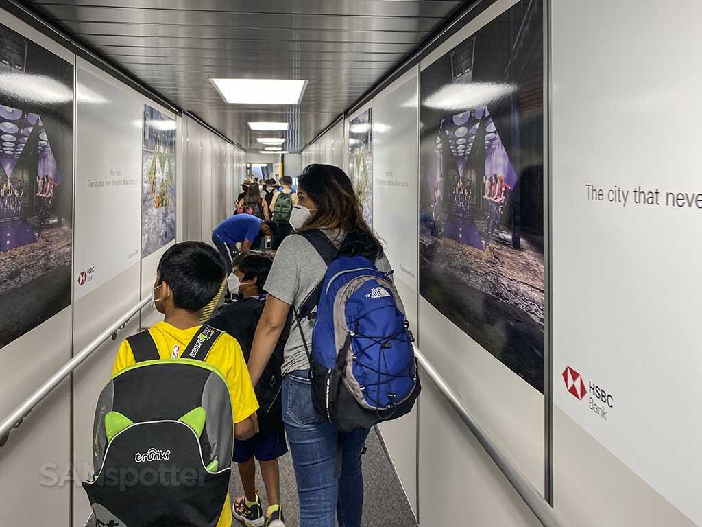 JFK airport jet bridge advertising