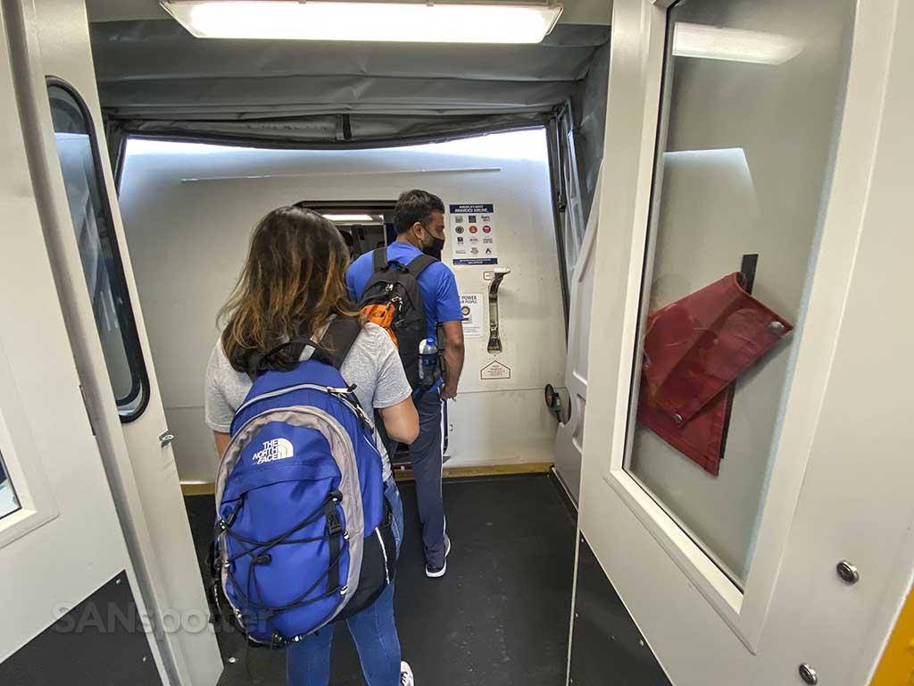 Delta 767-400 boarding door