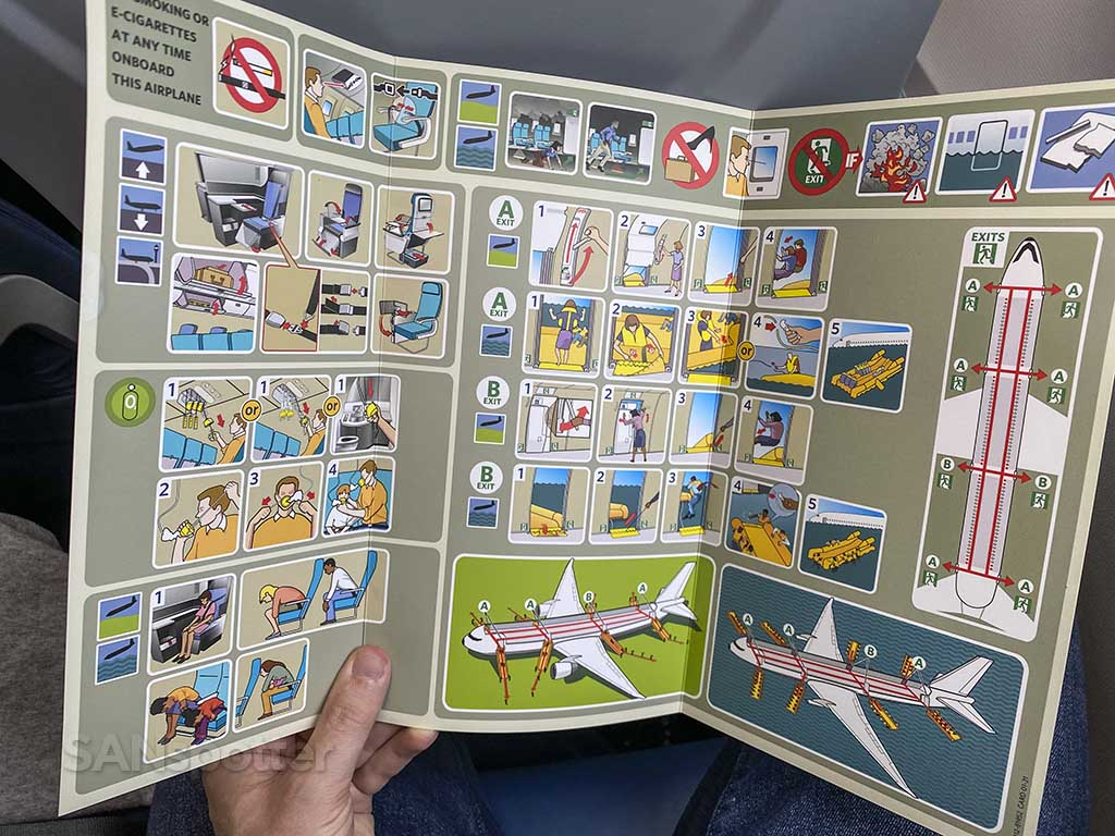 Delta 767-400ER safety card 2021 full spread