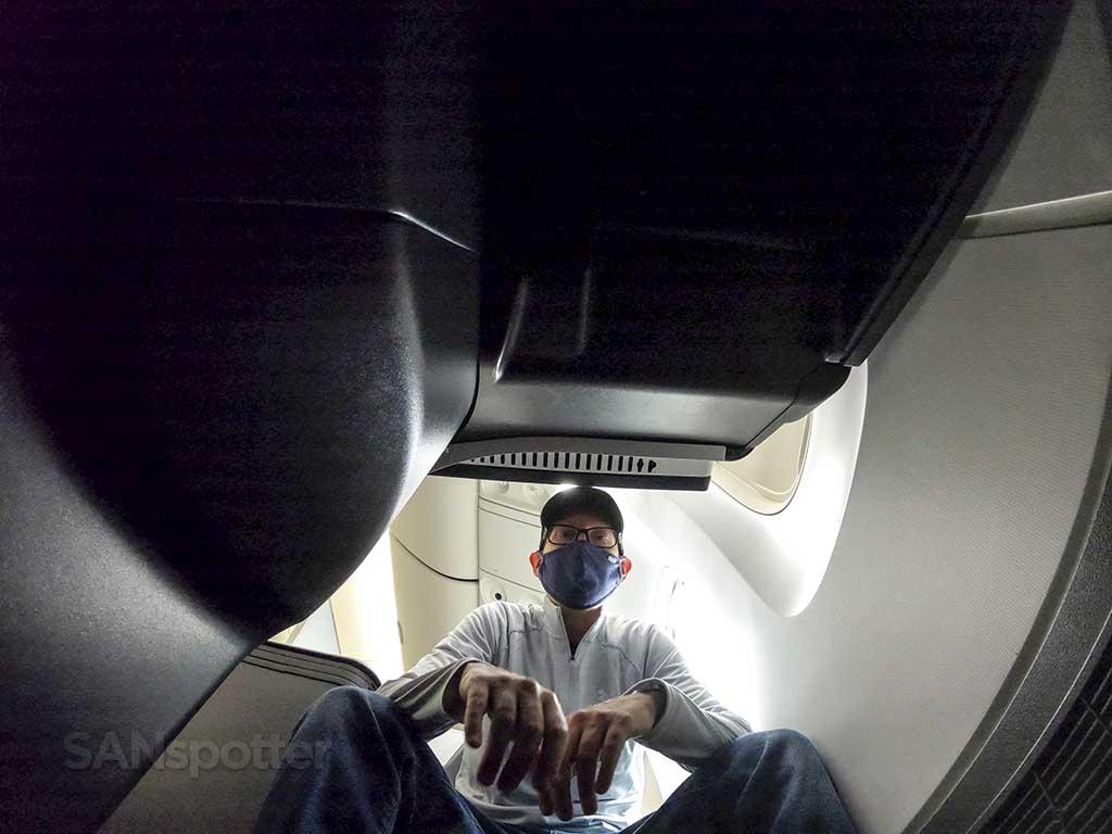 SANspotter selfie delta one 767-400 review