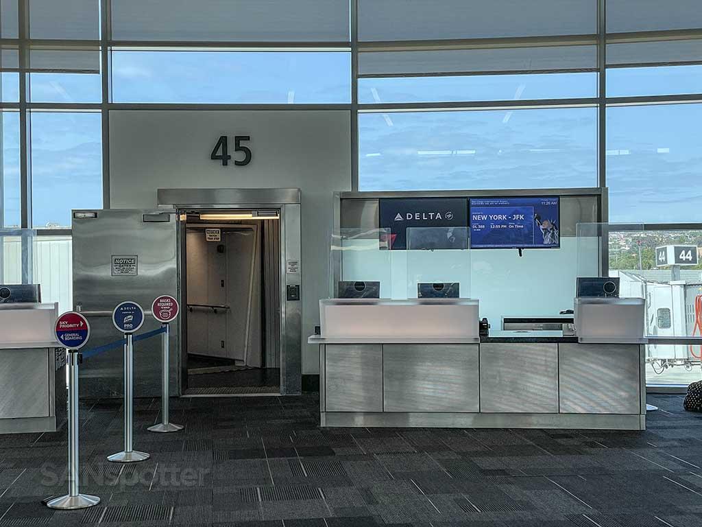 Gate 45 San Diego airport