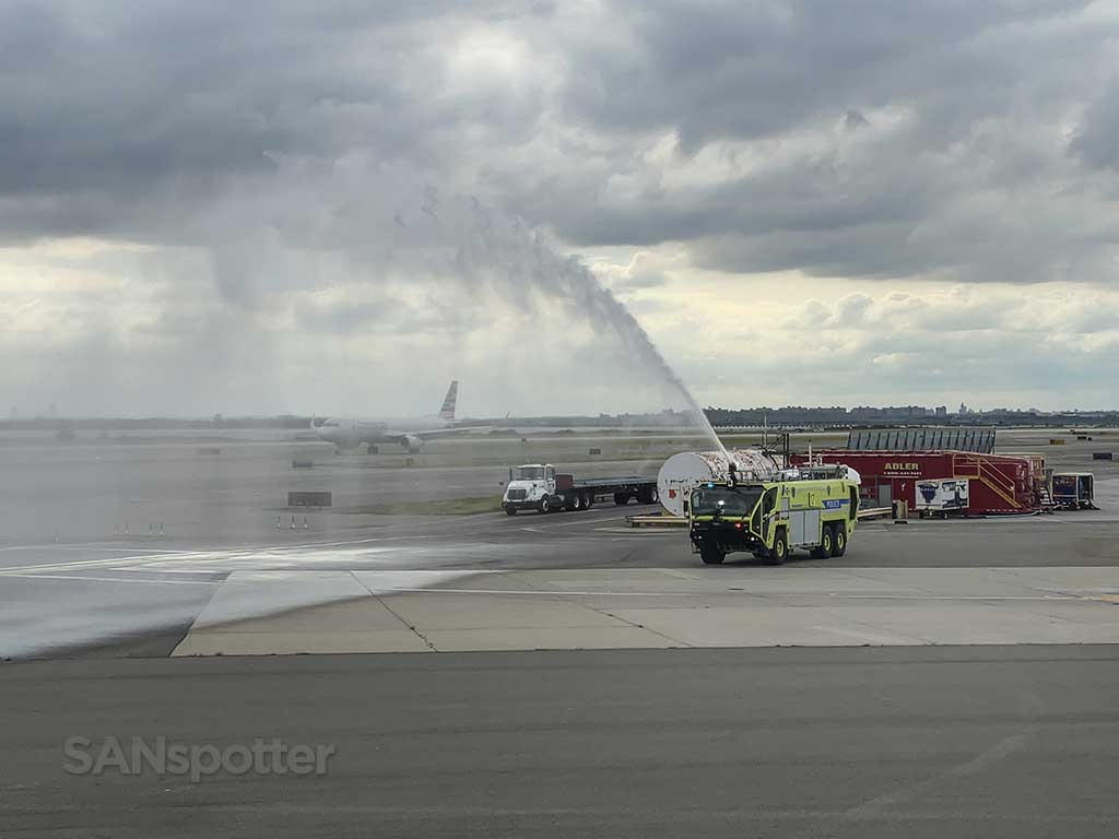 Water cannon salute JFK airport