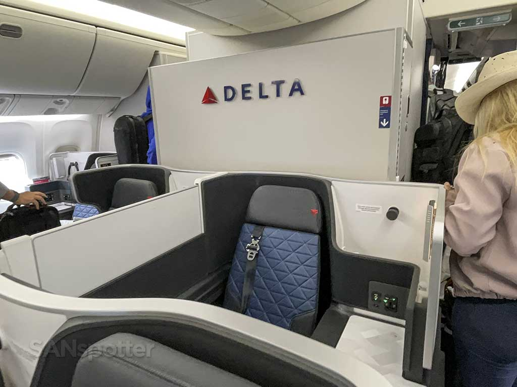 Delta one 767-400 rear bulkhead wall