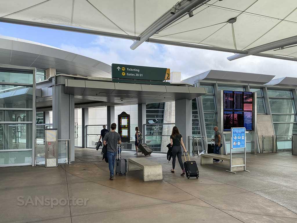 Terminal 2 main entrance San Diego airport
