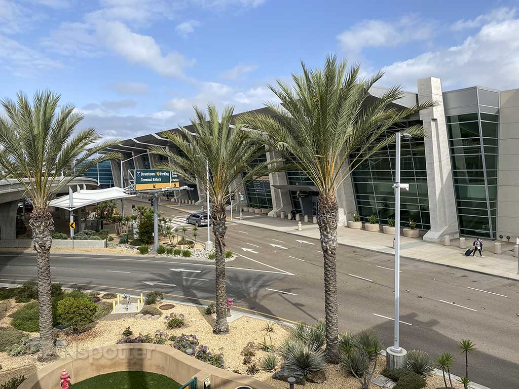 San Diego airport palm trees