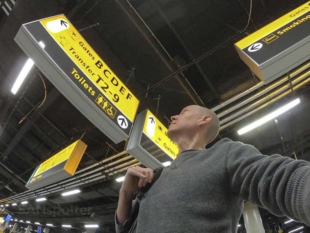SANspotter selfie AMS airport