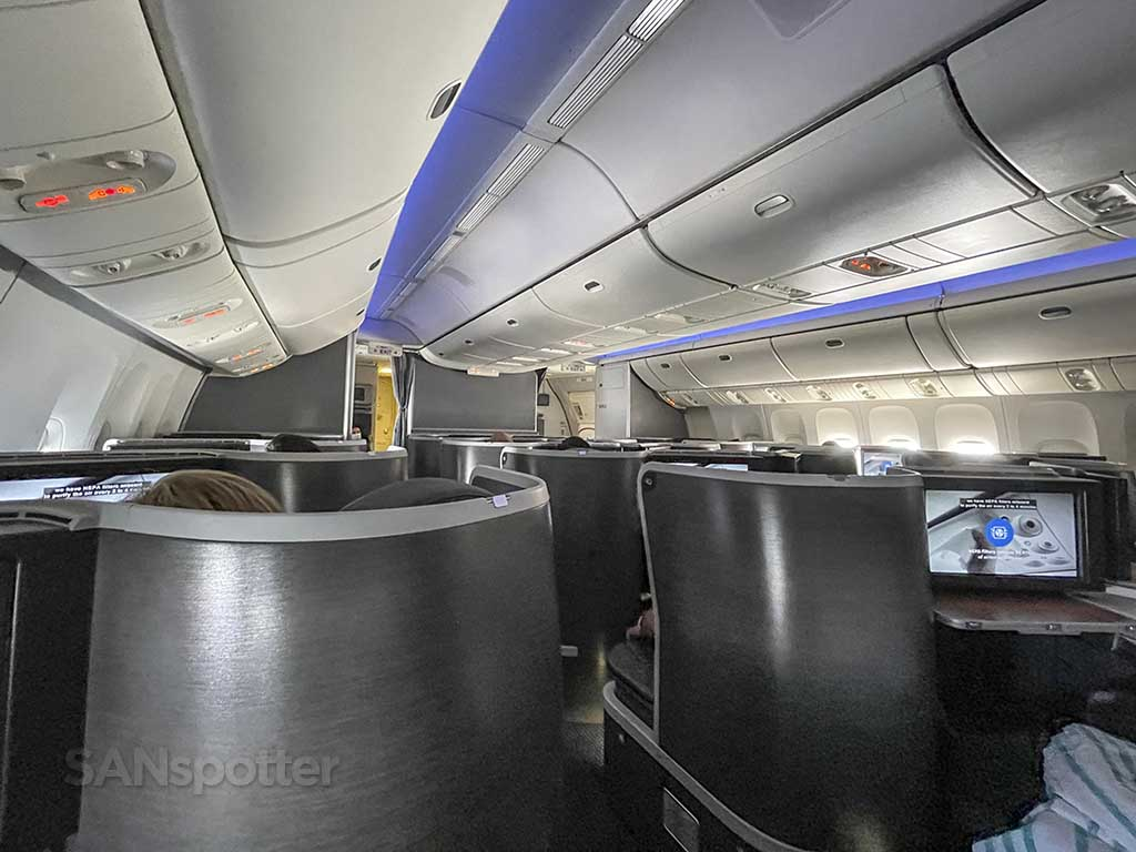 American Airlines 777-200 business class privacy