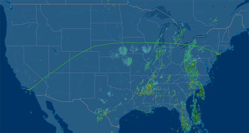 B6424 flight track