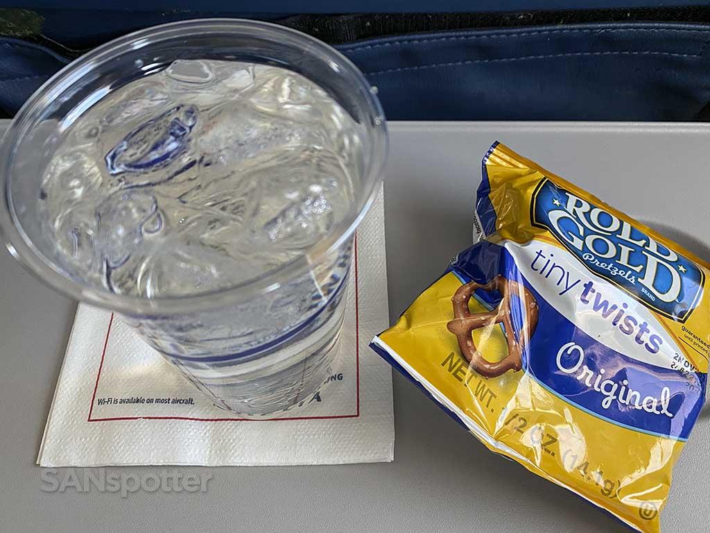 Delta air lines economy snack