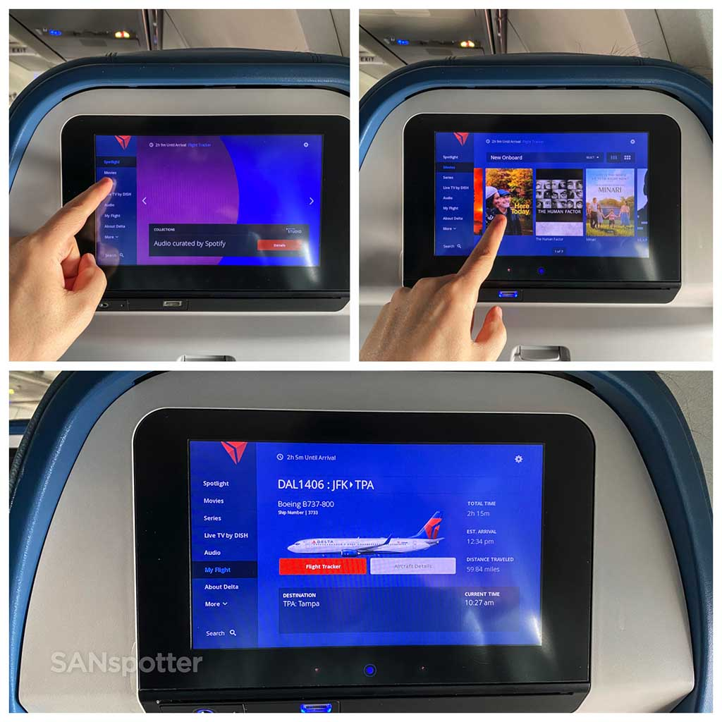 Delta Studio video screens 737-800