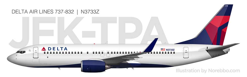 Delta 737-800 side view