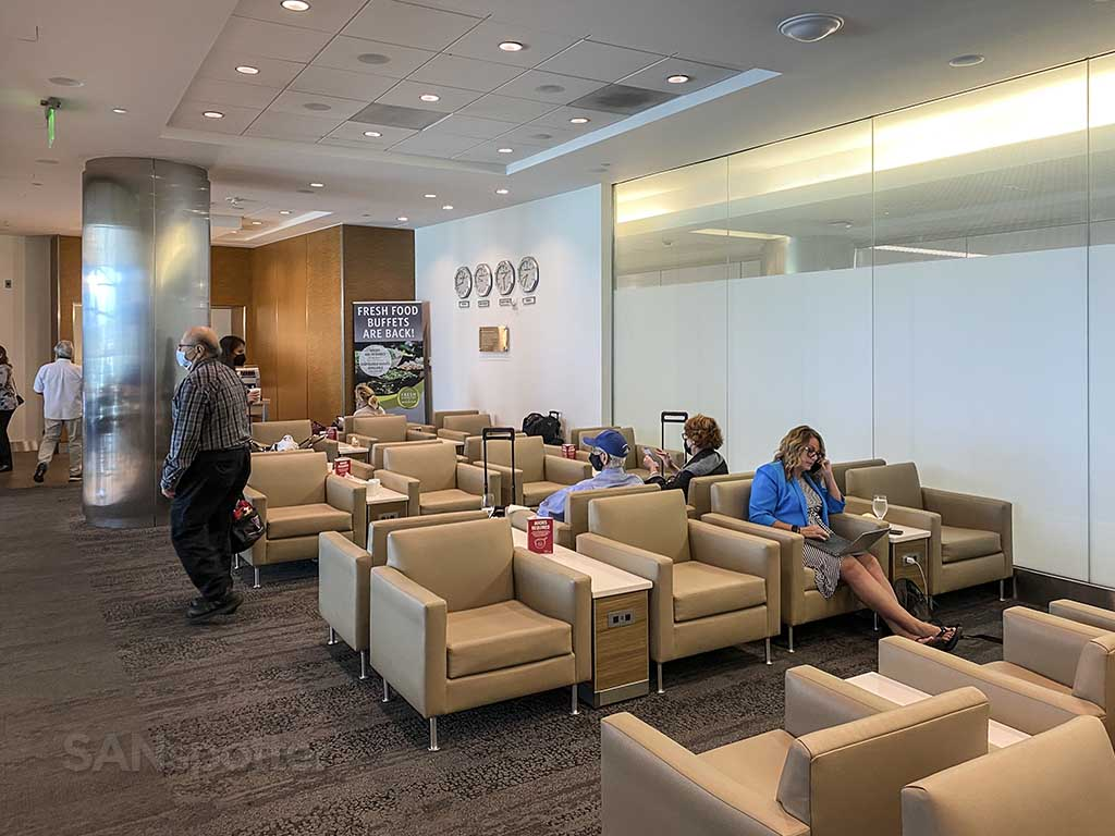 Delta Sky Club San Diego airport main seating area