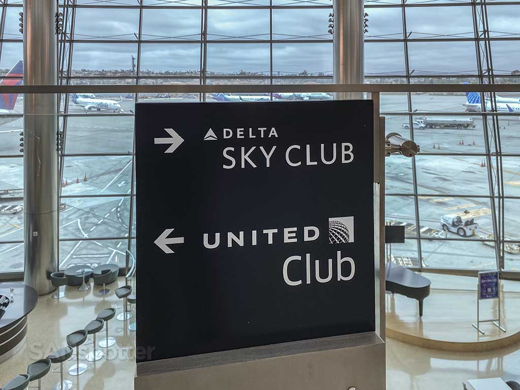 Delta Sky Club and United San Diego airport