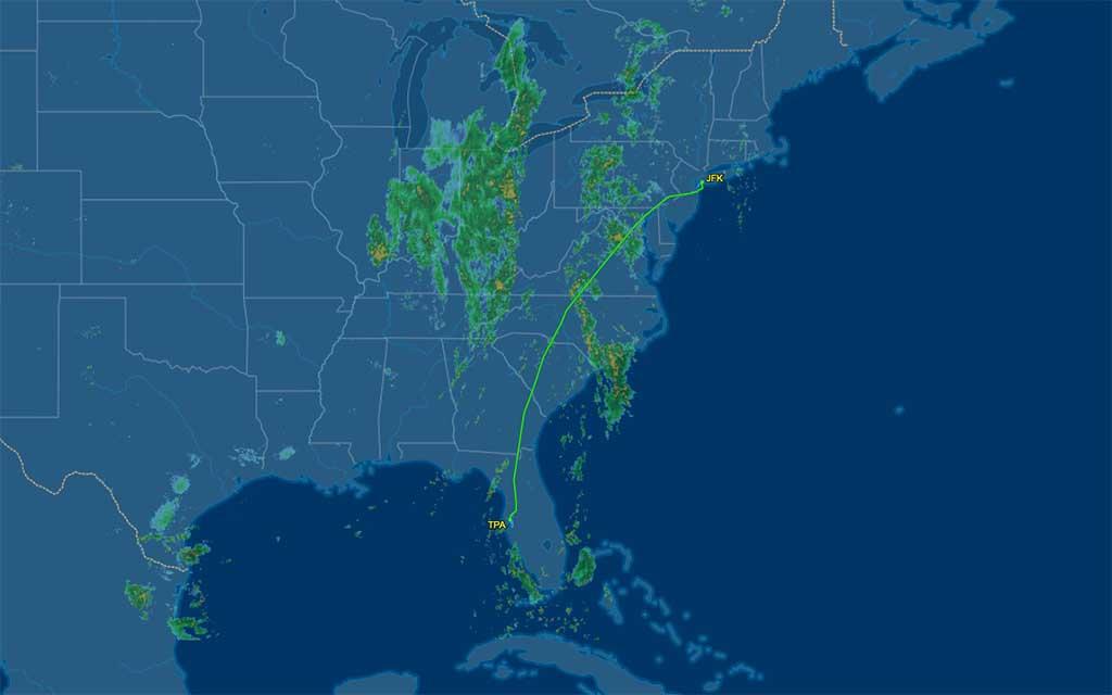 dl1406 flight track