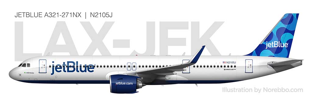 JetBlue A321neo side view
