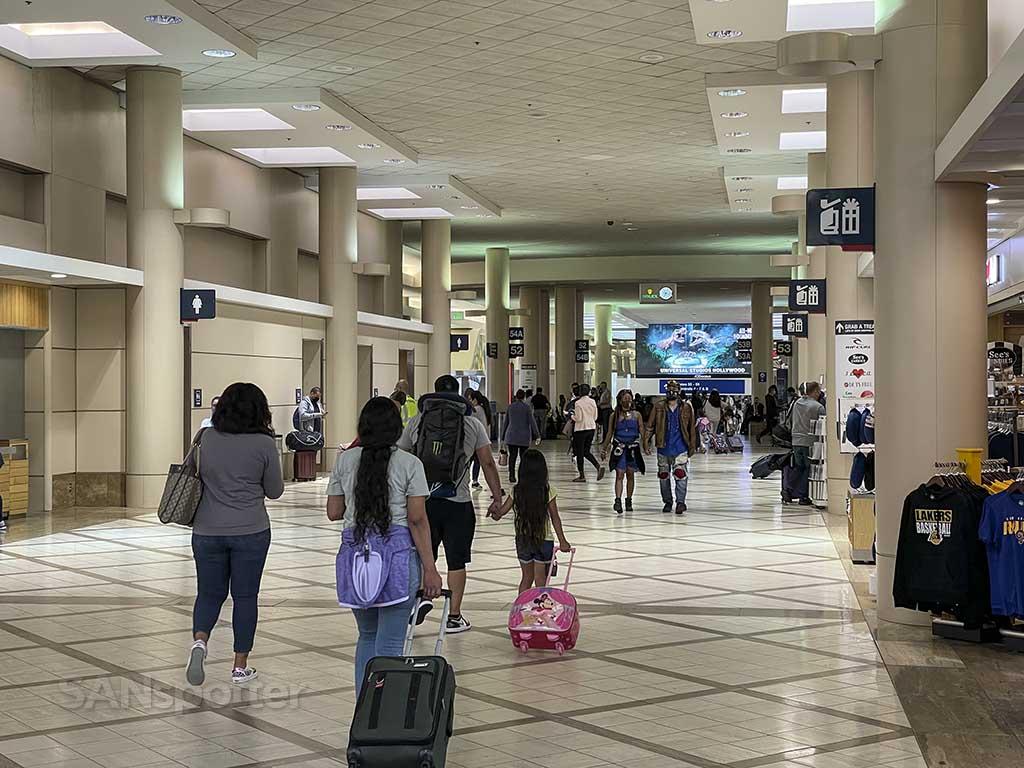 walking to gate terminal 5 LAX