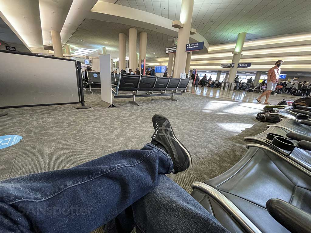waiting for JetBlue flight at LAX terminal 5