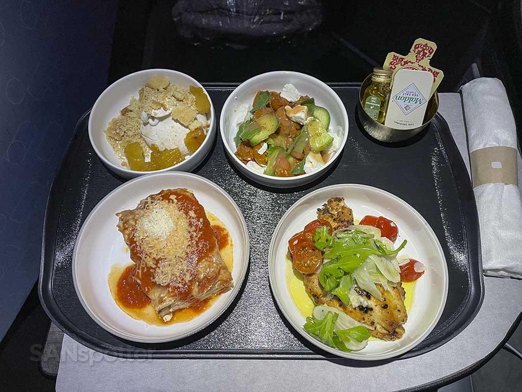 Jetblue mint suites lunch