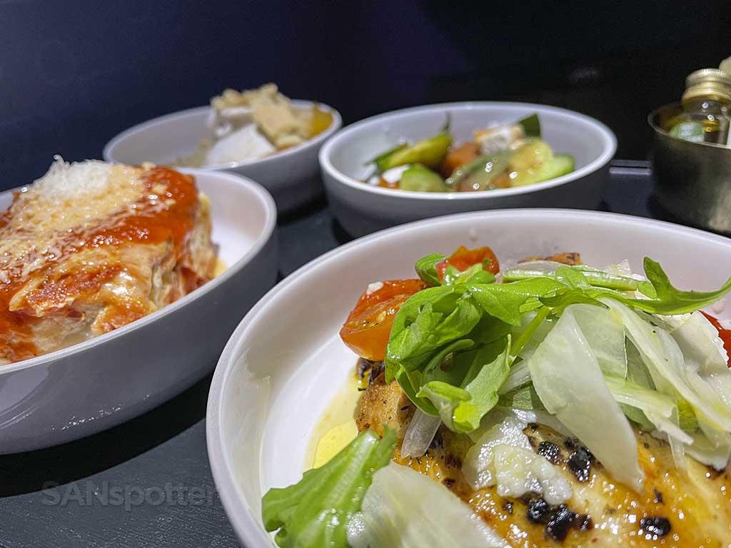 Jetblue mint suites food close up