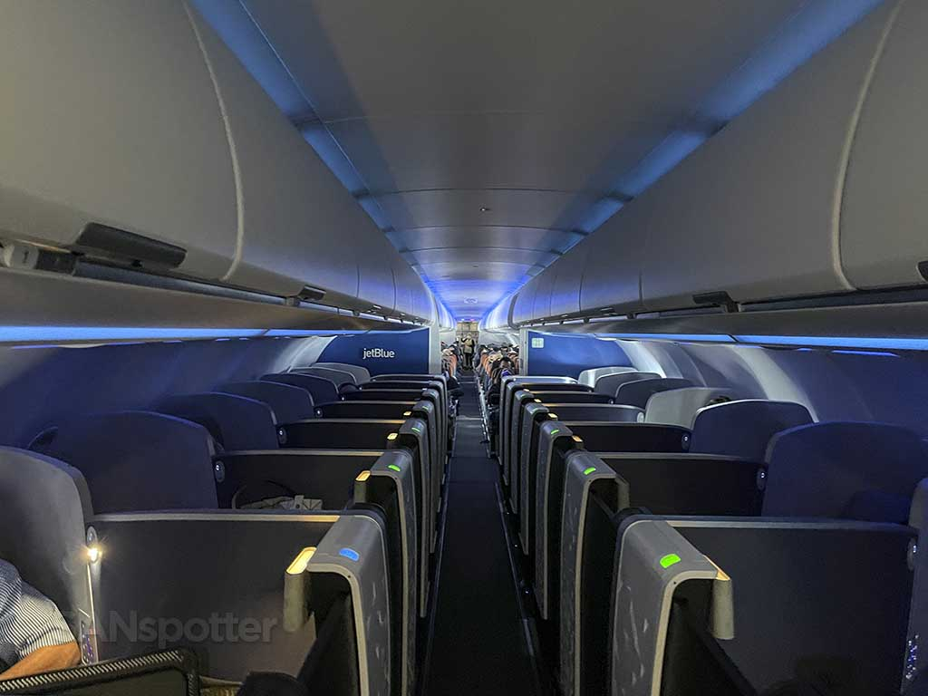 Jetblue mint suites view from front
