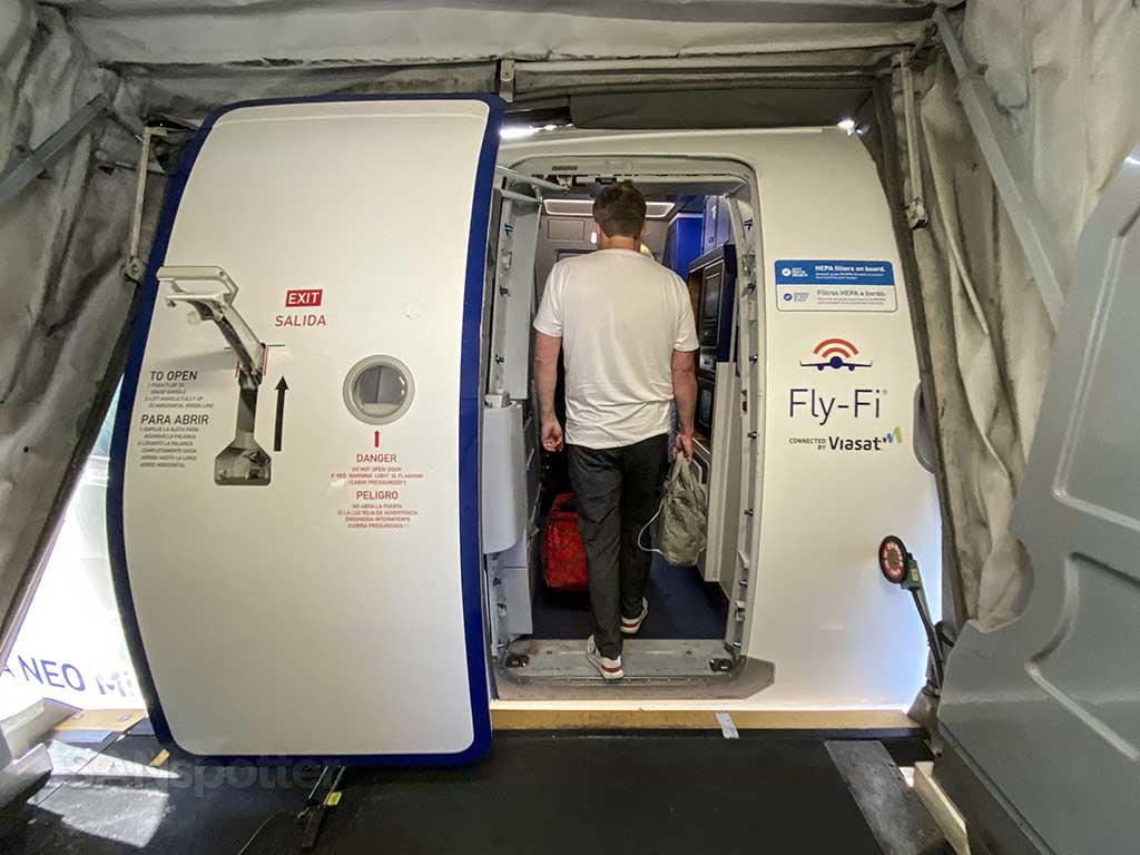 JetBlue A321neo boarding door